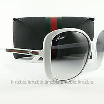 New Gucci Sunglasses Gg 3157/s White Vk69c Authentic Photo