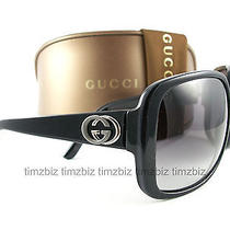 New Gucci Sunglasses Gg 3160/s Black Uxobd Authentic Photo