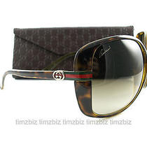 New Gucci Sunglasses Gg 3187/s Havana 791cc Authentic Photo