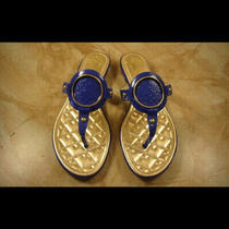 New Gucci Vince Camuto Royal Blue Leather Sandals Flats 6.5 Photo