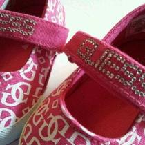 New Guess Baby Girls 3-6 Months Crib Shoes Pink Photo