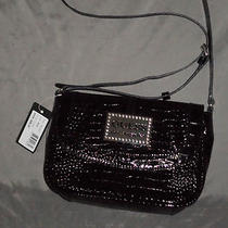 New Guess Black Animal Print Interior Cross Body Bag Shoulder Handbag Purse Photo