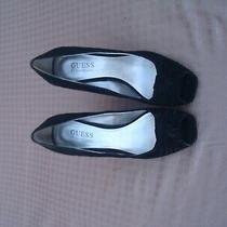 New Guess by Marciano Black Suede Women's Platform Wedges  Shoes Sz 6 M Photo