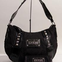 New Guess Electric Logo Black Hobo Bag Purse Handbag  Wallet Photo