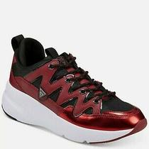 New Guess Gmtane Dark Red Sy Lace Up Sneakers Shoes 7.5m Msrp 120 Photo