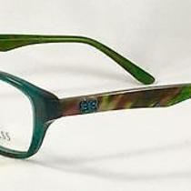 New Guess Gu 2417 Grn Green Women's Eyeglasses Frames 52-15-135 Photo