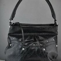 New Guess Handbag Ladies Macy Satchel Bag Black Purse Usa Photo