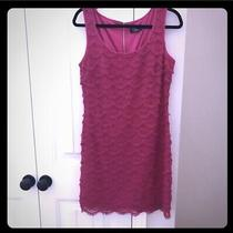 New Guess Knee Length Pink Dress Size 12 Photo