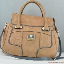 New Guess Ladies Handbag Jemma Bag Tan Multi Nwt Purse Usa Photo