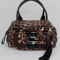 New Guess Lindsey Women's Brown Leopard Print  Satchel Shoulder  Bag Handbag  Photo