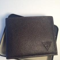New Guess Men's Wallet Genuine Leather Bifold Id Credit Card Photo