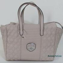 New  Guess  Mica Dove Quilted Satchel Tote Bag Purse Faux Leather Vegan  Photo