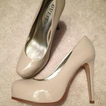 New Guess Nude Patent Leather Platform Pumps Sz 7 Photo