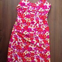 New Guess Short Summer Floral Dress Large Bright Colors Orange Pink Yellow Red Photo