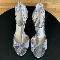 New Guess Snakeskin Print W Gold Metal Detail Sexy Stilettos Heels Pumps 10 Photo