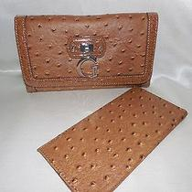 New Guess Tamora  Slg Checkbook  Color Cognac Photo