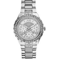 New Guess U0111l1 Silver Stainless Steel Women's Watch Photo