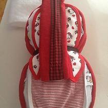 New Guitar Baby Diaper Cake Red/blk Hello Kitty Baby Shower Centerpiece Photo
