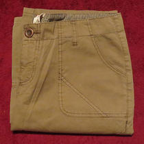 New Gypsy 05 Green Cotton Flat Front Seamed Cargo Pants Bottoms 27 165 Nwt Photo