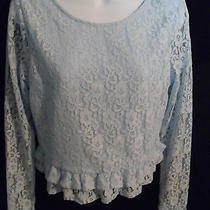 New h&m Divided - Blue Lace Casual Long Sleeved Top - M Photo