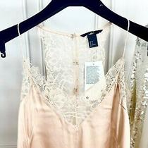 New h&m Nude Blush Pink Lace Cami Top Blouse Size 8 Asos Photo