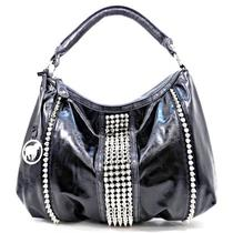 New Handbag Designer Inspire Rock Style Spikes Decor Purse Hobo Black  78.00 Photo