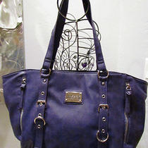 New  Handbag Kenneth Cole Reaction Purple Hobo Msrp 99.00 Photo
