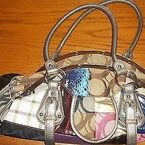 New Handbag Shoulder Multicolored Patterned Textile Large Photo