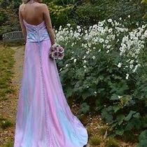 New Handdyed Beach Silk Wedding Dress Pink Rosequartz Blush Blue Purple 2 4 6 8  Photo