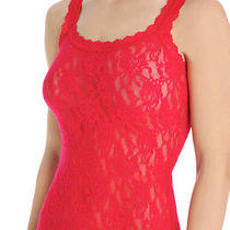 New Hanky Panky Signature Lace Classic Camisole & G String Set Sz L Red 66 Nwt Photo