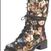 New Hard to Find  Sam Edelman Darwin Floral Boots Sz 8 1/2 Women Photo