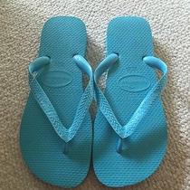 New Havaianas Blue Top Flip Flop  Usa 7/8  39-40 Photo