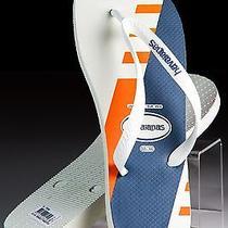 New Havaianas Trend Men's Flip-Flops Thongs Sandals White / Orange 11 Us 45/6 Eu Photo