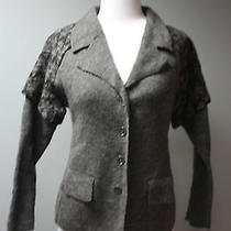 New Heather B Womans Graphite Combo Gray Wool Jacket / Blazer Sz S Nwt 158 Photo