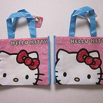 New - Hello Kitty  - 2 Shopping Tote Bags  - 2  So Cute  Approx (8