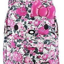 New Hello Kitty 3d Bow and Ears Backpack  Floral Print Photo