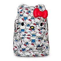 New Hello Kitty 3d Bow and Ears Backpack  Vintage Print Photo