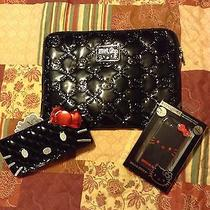New Hello Kitty (Bundle) Shiny Black Laptop Case & Wallet & Iphone 5 Wrap Photo