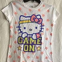 New Hello Kitty by Sanrio Girls T-Shirt Xl White Game On Photo