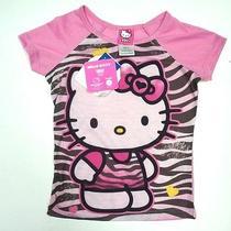 New Hello Kitty by Sanrio Pink Zebra Burn Out Style Pajama Sleep T-Shirt Size 6 Photo
