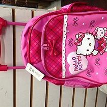 New Hello Kitty Checker Ribbon Rolling Backpack Photo