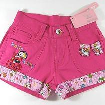 New Hello Kitty Girl's Pink Shorts Size Xs  Photo
