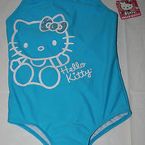 New Hello Kitty Girls Neon Hot Pink Blue Rhinestone 1pc Swimsuit 4 5/6 7/8 10/12 Photo