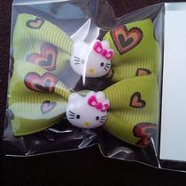 New Hello Kitty Hair Clips-Hearts/green Photo