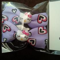New Hello Kitty Hair Clips-Hearts/purple Photo