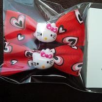 New Hello Kitty Hair Clips-Hearts/red Photo