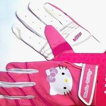 New Hello Kitty Pink Girls Batting Gloves Easton Vrs Character & Logo on Top  Photo