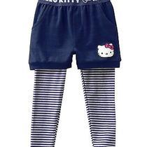 New Hello Kitty Sanrino Mock Layer Shorts Leggings Pants Blue Gray Size 3t Photo