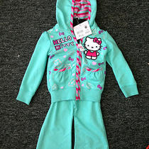 New Hello Kitty Tracksuit 2 Pc Piece Size 2t Aqua Photo