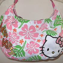 New Hello Kitty  Women's Shoulder Canvas Flower Handbag Bag    Free Hk Earring  Photo